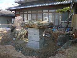 赤坂 池工事