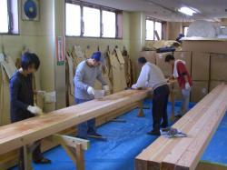 南本庄垂木塗装-