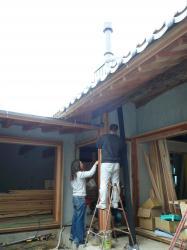 寄島 柱塗装