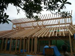 南 タル木工事